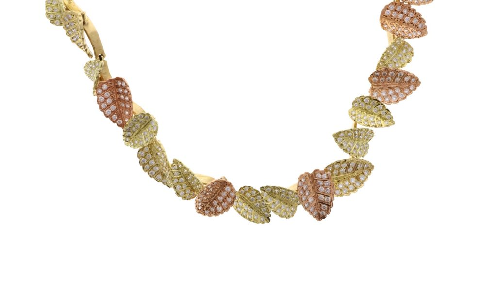Estate Leaf Necklace Fall Jewelry Trend Showcase View